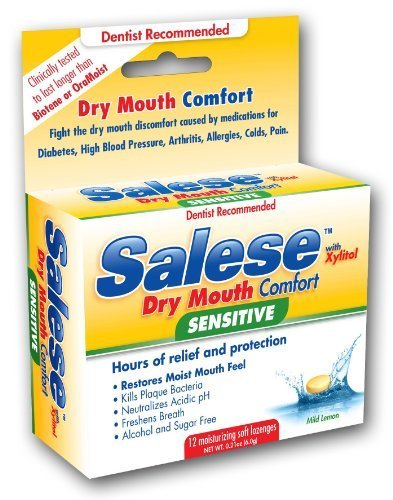 Salese Mild Lemon with Xylitol and ACP for Dry Mouth Sufferers, 2 Packs