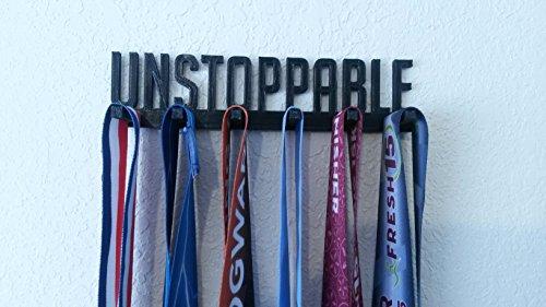 Unstoppable Sports Medal Display Rack Hanger Holder Organizer for Wrestling Gymnastics Gymnast Swimming Soccer Baseball Running Medals ()
