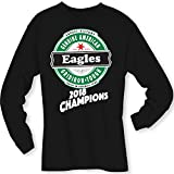 4u4design Football- Long Sleeve Eagles (2018 Champions) Angled Type Beer Shirt - Sizes up to 6XL