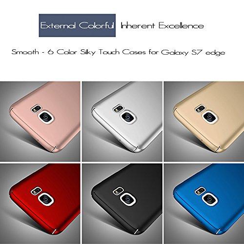 Anccer Funda Samsung Galaxy S7 Case [Serie Colorida] [Ultra Delgado] [Anti-Drop] ultrafin Premium Carcasa (Plata liso) Azul liso