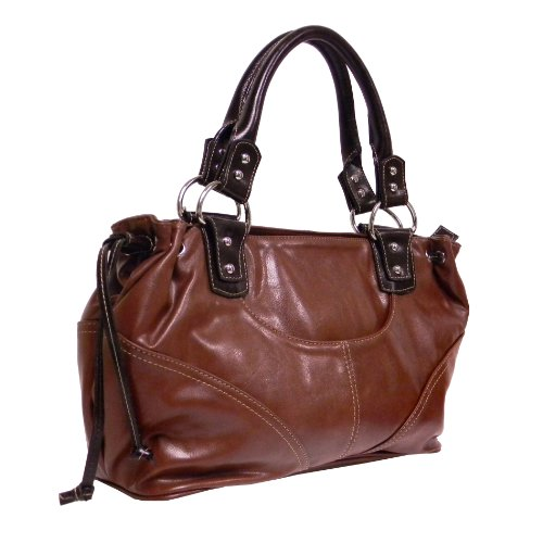 """rodeo"" Large Satchel By Rina Rich (brown) R909"