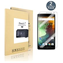 [2 pack] OnePlus 2 Screen Protector, EasyULT Premium Tempered Glass Screen Protector,with Double Defense Technology with [2.5D Round Edge] [9H Hardness] [Crystal Clear] [Scratch Resist] [No-Bubble]