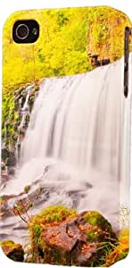 Autumn Fall Colors Mountain Waterfall Plastic Snap On Flexible Decorative Apple iPhone 4/4s Case