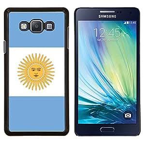 KLONGSHOP // Cubierta de piel con cierre a presión Shell trasero duro de goma Protección Caso - Argentina Bandera - Samsung Galaxy A7 A7000 //