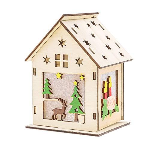 callm Christmas Ornaments LED Light Chalet Hotel Bar Christmas Tree Decoration (F)