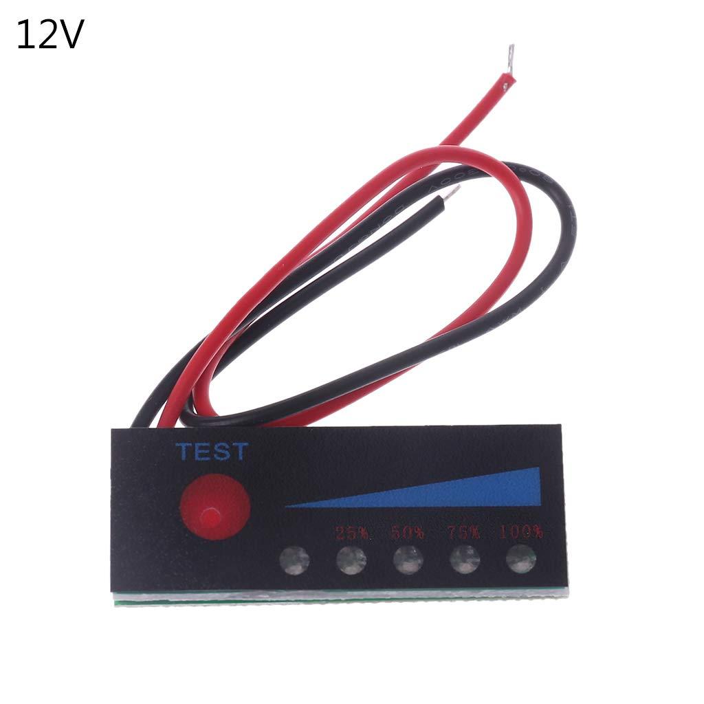 BIlinli Testeur de Puissance de la Batterie au Plomb 12V au Lithium 12V 3.7V 2S-4S 18650