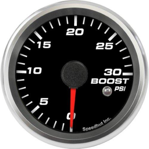Speedhut GR26-BS09 Boost Gauge 0-30psi (With Warning LED), 2-5/8'' by SpeedHut