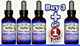 Buy 3 Get 1 Free''Extra Strength'' Wild Mediterranean Turkish 100% Eco Certified Organic Oil of Oregano 85% Carvacrol