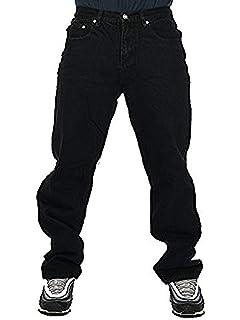 df76abd84ad Georgia Peviani Mens Black Jeans, Straight fit bar Rock g Plain Basic  Premium Weight Trousers