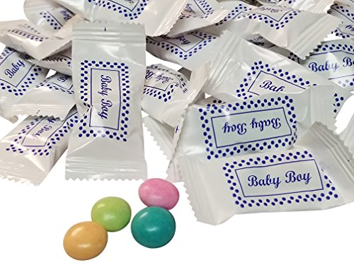 Gourmet Chocolate Mints-Themed Baby Boy Its A Boy Baby Shower 100 Count Wrapped -