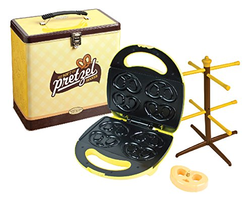SMART Nostalgia Soft Pretzel Maker Kit - Electric Non Stick - Yellow