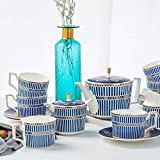 ACHKL European bone china coffee set blue dream royal coffee cup gift ceramic afternoon cup ACHKL
