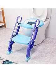 VETOMILE Siège de Toilette pour Enfant avec Echelle Escabeau Siège de Toilette Traiter Réglable Pliable pour Enfant Unisexe