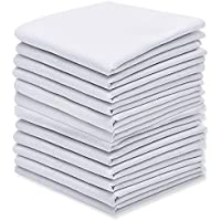Silky Soft Pure White Cotton Men's Handkerchiefs/Hankies