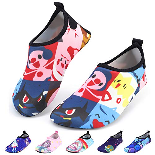 bridawn Kids Water Shoes Toddler Swim Shoes Quick Dry Non-Slip Barefoot Aqua Socks for Beach Pool for $<!--$12.89-->