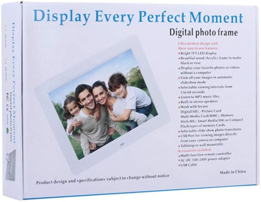 MDYYD Widescreen Digital Photo Frame Ultra-Thin Narrow Side 10 Inch Digital Picture Frame 1024600 Pixels High Resolution LED Screen Auto On//Off Timer USB//SD Card Playback Infrared Remote Control