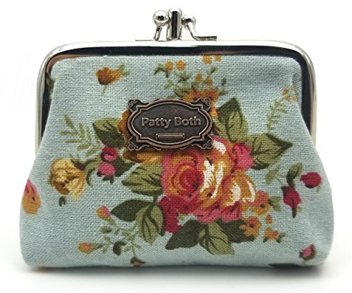 (Cute Classic Floral Exquisite Buckle Coin Purse-Patty Both (01))