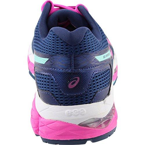 Asics Gelsuperion Scarpe Da Donna Running 11.5 Insignia Blu-rosa Glow-green