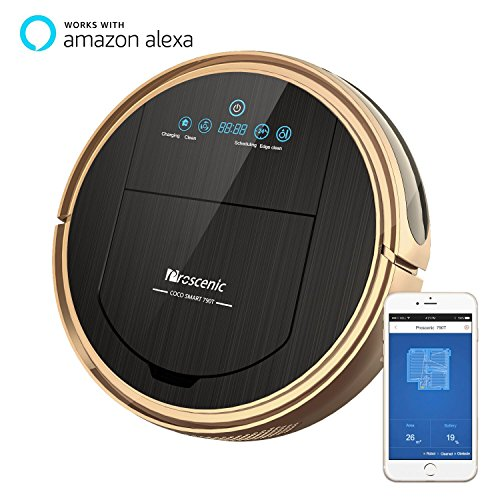 Proscenic [Upgraded Version] 790T Robot Vacuum Cleaner, Robotic Vacuum Cleaner with APP & Alexa Voice Control, Visionary Map, Water Tank and Mopping, HEPA Filtration for Pet Fur and Allergens