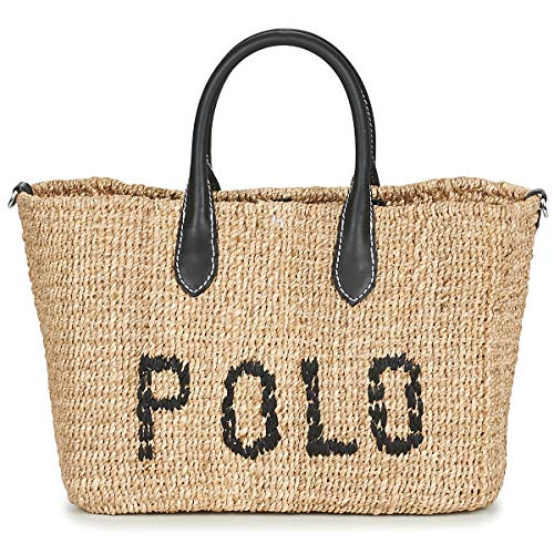 Polo RALPH LAUREN Structured Basket Tote Bolso Shopping Mujeres ...