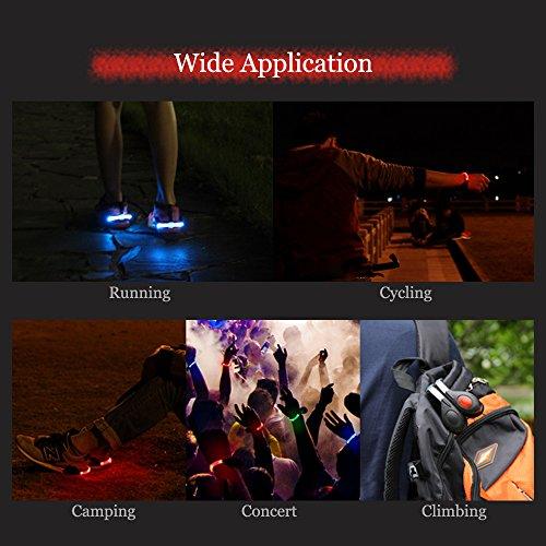 Lixada LED Flash Zapato Seguridad Clip Luces para Corredores Noche Engranajes Reflectantes Rojo