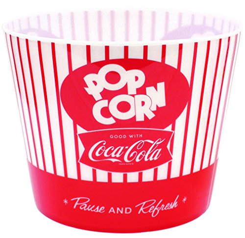 Tablecraft Coca-Cola Popcorn/Snack Bucket''Pause & Refresh'' (CC400), Red by Tablecraft