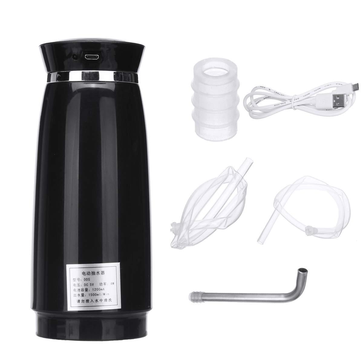 SAFETYON Automatic Drinking Water Pump Portable Water Drinking Button Pump Dispenser Black