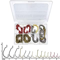 HOOK SPECIFICATIONS: 45 Count Red Octopus Hooks: 1/0 x 15 - #2 x 15 - #6 x 15 | 60 Count Bronze Baitholder Hooks: 1/0 x 15 - #2 x 15 - #4 x 15 - #6 x 15 | 15 Count Gunsmoke EWG Extra Wide Gap Worm Hooks: 4/0 x 5 - 3/0 x 5 - 2/0 x 5 | 20 Count...