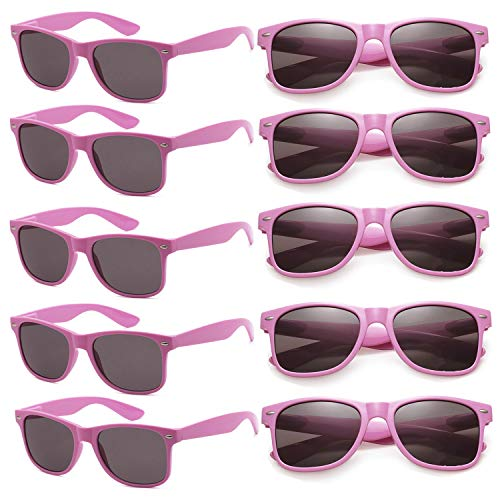 Wholesale Unisex 80'S Retro Neon Party Favor Sunglasses Bulk for Adults 10 Pack ()