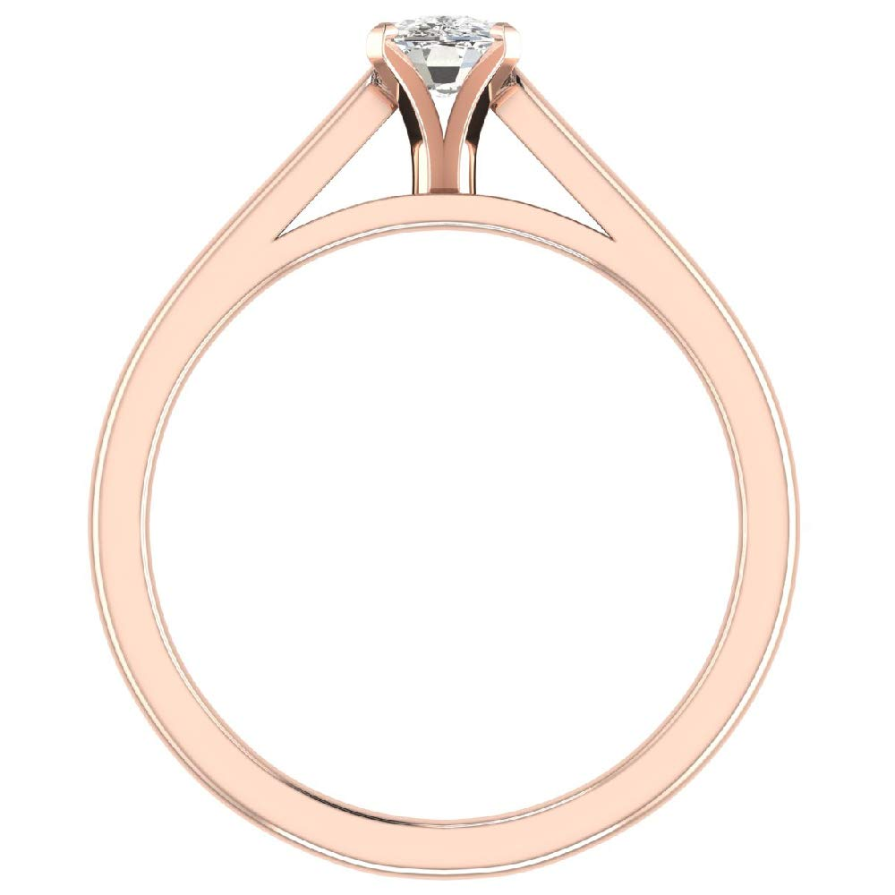 Amazon.com: Anillo de compromiso de diamante de 0,50 ct I SI ...
