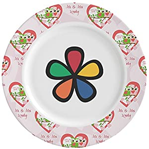 Valentine Owls Ceramic Dinner Plates (Set of 4) (Personalized)  sc 1 st  Amazon.com & Amazon.com | Valentine Owls Ceramic Dinner Plates (Set of 4 ...