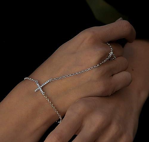 Sterling Silver Bracelet Festival Hand Chain Jewelry Silver Bracelets Pineapple Express Sterling Silver Slave Chain Boho Jewelry