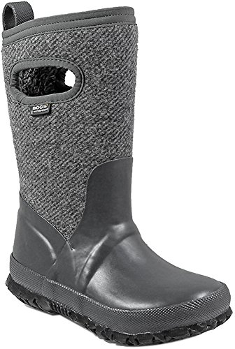 Image of Bogs Crandall Wool Boot - Girls' Dark Gray, 6.0