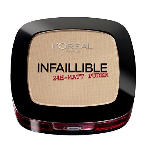 L'Oréal Paris Infaillible 24H Halt Make-up und Puder Nr. 160 sand beige, extra deckend als Nass-Puder oder perfekt mattierend als Trocken-Puder