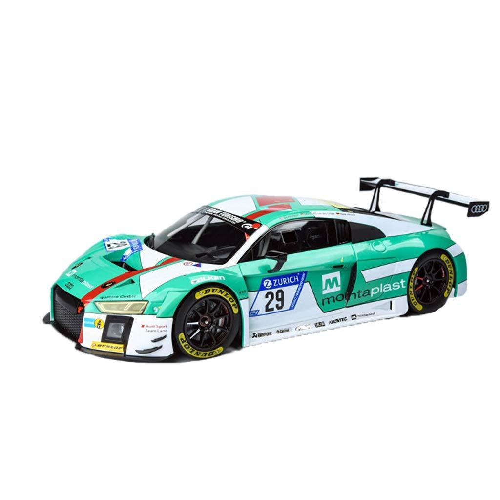 GAOQUN-TOY 1 18 Audi R8 LMS Nurburgring 2017 DE 29 Modello di Auto (colore   verde, Dimensioni   25cm10cm9cm)