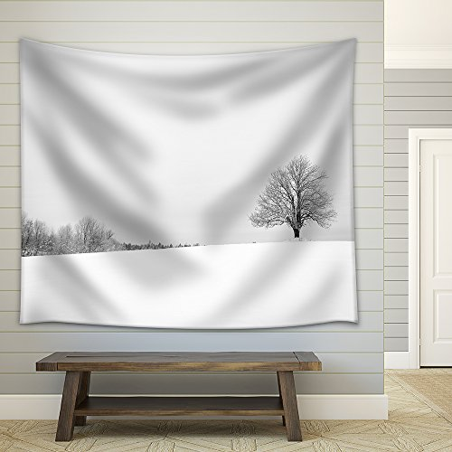 Black and White Urban Landscape of New York City Fabric Wall Tapestry