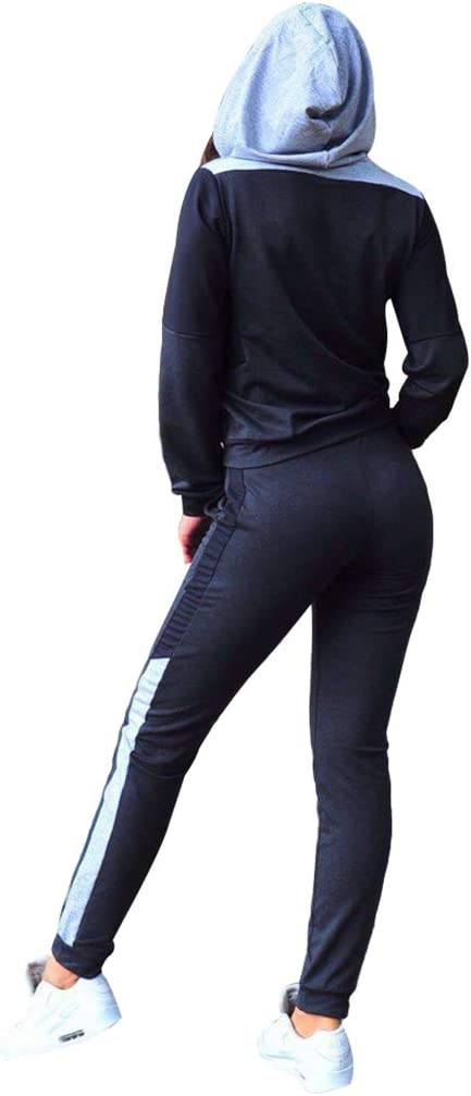 hibote Chándal Sexy Tops y Pantalones de Mujer Conjunto de Dos ...