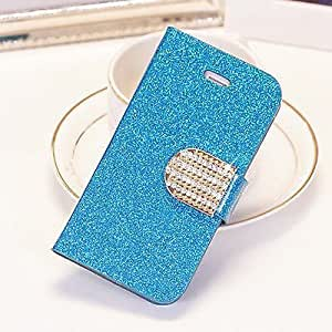 Zjskin Fashionalble Crystal Diamond Glitter Bling Flip Wallet Stand Case Cover 6 Colors For Iphone 4 6S