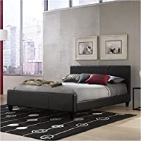 Pemberly Row Queen Platform Bed in Black