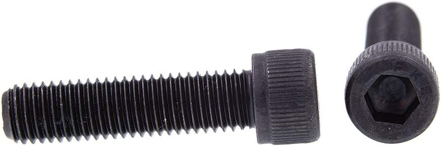 1//4 in-28 X 1 in Hex Prime-Line 9178372 Socket Head Cap Screws Black Oxide Coated Steel Drive 10-Pack Allen