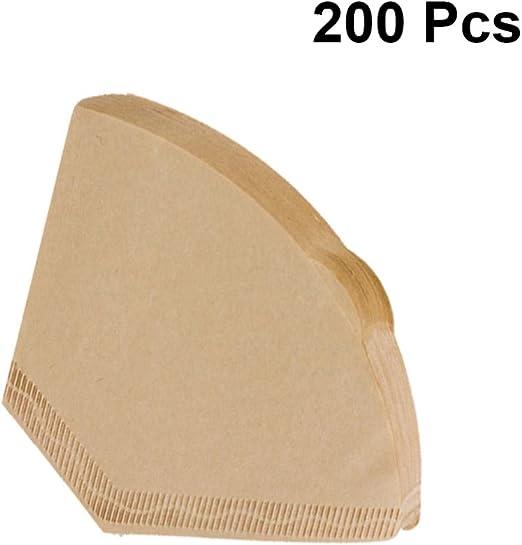 UPKOCH 200 filtros de papel para café desechables sin blanquear ...