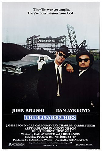 Four Brothers Movie Poster - The Blues Brothers - 1980 - (24 X 36) Movie Poster by Unknown