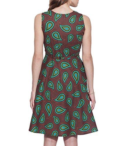 Vêtements pour femmes Robe en coton imprimé, lavable en machine, W-CPD 38-1627, Taille-38 pouces