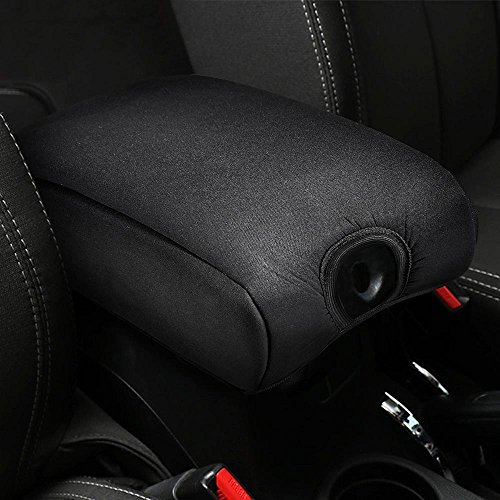 Yescom Neoprene Center Console Armrest Pad Cover for Jeep Wrangler JK 2-Door & 4-Door 2007 - 2017 Black (Armrest Door Pad)