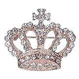 Horoshop Fashion Rhinestone Style Brooch Pin Crown Design Breastpin Vintage Wedding Gift
