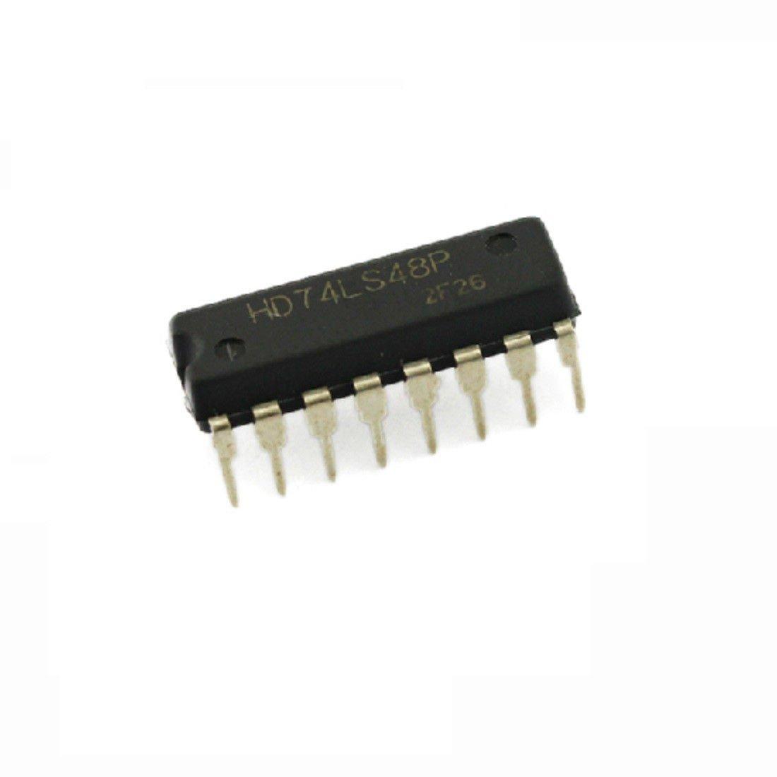5PCS 100% original HITACHI 74LS48 DIP16 DIP-16 IC NEW