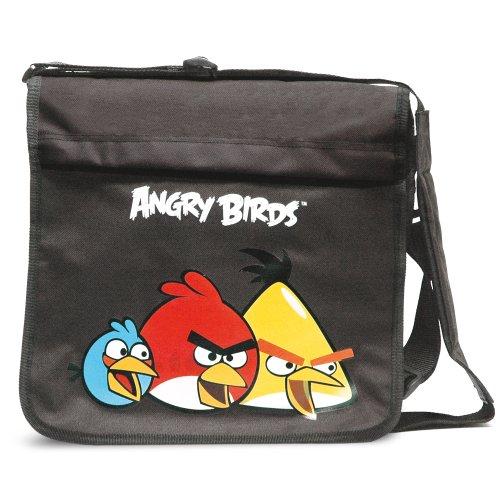 Angry Birds - Bolso bandolera, color negro