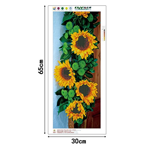 SCASTOE DIY Sunflowers 5D Diamond Embroidery Painting Cross Stitch Craft Home Decor