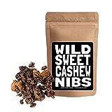 Wild Sweet Nibs, Organic Cacao Nibs Lightly Sweetened, Raw, Single-Origin, Gluten-Free, non-GMO Superfood (8oz Cashew Nibs)