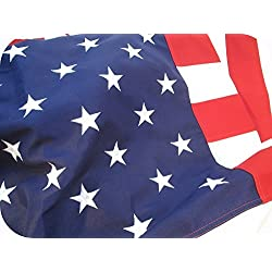 AMERICAN FLAG HEAVY DUTY 4x6 PREMIUM Commercial Grade 2 ply PolyMax Polyester The BEST US FLAG 100% Made in USA Tough Durable Fade Resistant All Weather SEWN STRIPES EMBROIDERED STARS (4 by 6 foot)